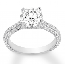 Diamond Engagement Ring 2-1/5 ct tw Round-cut 14K White Gold