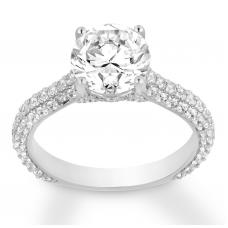 Diamond Engagement Ring 2-1/5 ct tw Round-cut 14K White Gold
