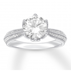 Diamond Engagement Ring 2-1/4 ct tw Round-cut 14K White Gold
