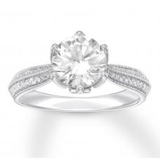 Diamond Engagement Ring 2-1/4 ct tw Round-cut 14K White Gold