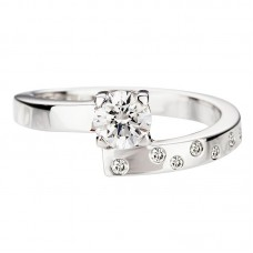 Diamond engagement ring 1.00ct Toi & Moi