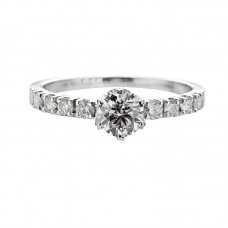 Diamond engagement ring 1.00ct Blanche Neige