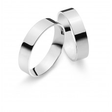 Wedding ring white gold 5.0mm P