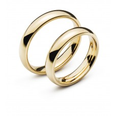 Wedding ring yellow gold 4.0mm