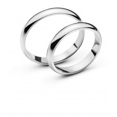 Wedding ring white gold 3.4 mm
