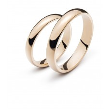 Wedding ring pink gold 4.0mm R