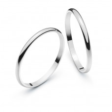 Wedding ring white gold 1.8mm