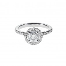 Diamond engagement ring 1.00ct Princesse