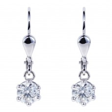 Diamond pendant earrings 0.50ct G VS2