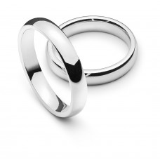 Wedding ring white gold 4.0mm R