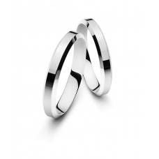 Wedding ring white gold 4.0mm M