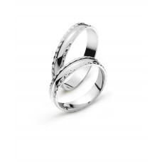 Wedding ring white gold 4.0mm B