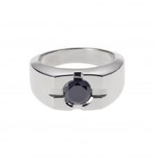 Black diamond ring 1.75ct
