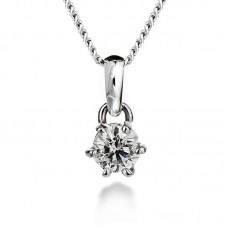 Diamond pendant 0.25ct 6 claws