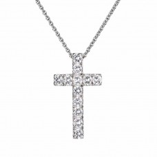 Large cross pendant and diamonds
