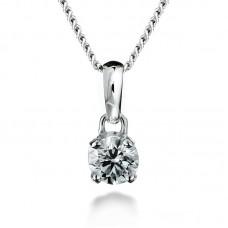 Diamond pendant 0.16ct 4 claws