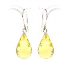Briolette cut dangle citrine earrings