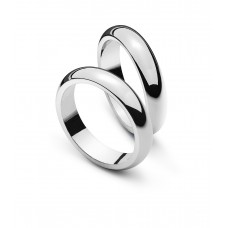 Wedding ring white gold 4.0mm
