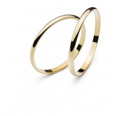 Wedding ring yellow gold 1.8mm