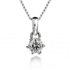 Diamond pendant 0.35ct 6 claws
