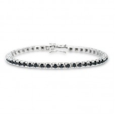 Black Diamond Tennis bracelet 3.65ct