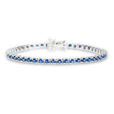 Sapphire Tennis bracelet 4.02ct