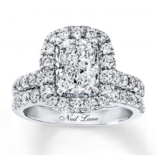 Neil Lane Bridal Set 3-1/3 ct tw Diamonds 14K White Gold