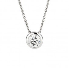 Diamond pendant 0.50ct gipsy setting