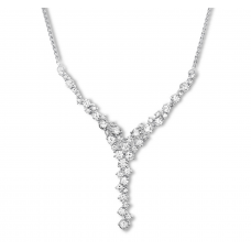 Diamond Necklace 2-1/2 ct tw Round-cut 14K White Gold