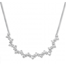 Diamond Necklace 1-1/2 ct tw Round-cut 14K White Gold