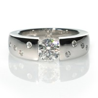 Diamonds engagement ring 1.00ct Moon