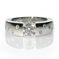 Diamonds engagement ring 1.00ct Moon