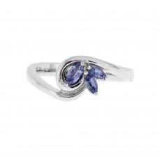 Marquise 3 Yogo Sapphires Ring
