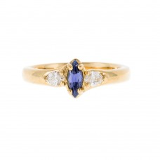 A Marquise Yogo Sapphire Ring