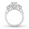 Diamond 3-Stone Ring 2-7/8 ct tw Round-cut 14K White Gold
