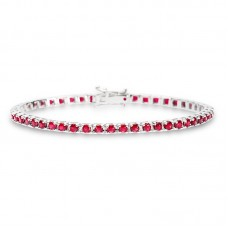 Ruby Tennis bracelet 4.22ct