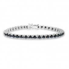 Black Diamond Tennis bracelet 5.80ct