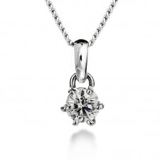 Diamond pendant 0.50ct 6 claws