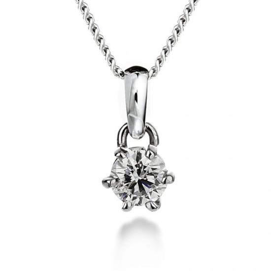Diamond pendant 0.50ct 6 claws