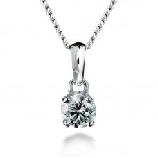 Diamond pendant 0.50ct 4 claws